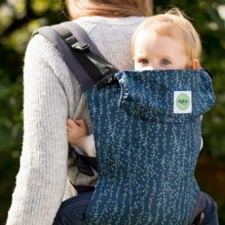 Kahubaby sling in a back carry with a toddler
