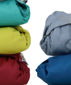 Group shot of a bundle of Close Pop-in V2 nappies in an assortment of colours