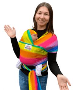 Rainbow stretchy wrap